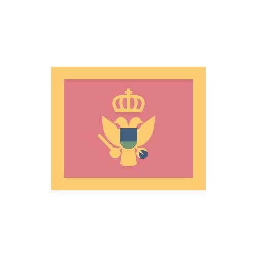 モンテネグロ 国旗 カラーアイコン フリー素材