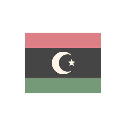 リビア 国旗 カラーアイコン フリー素材