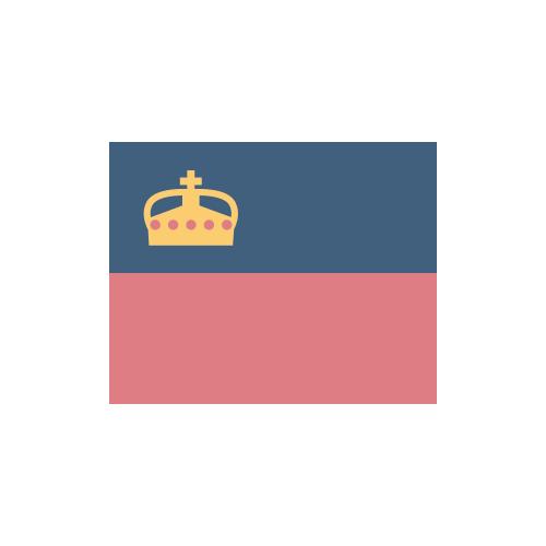 リヒテンシュタイン 国旗 カラーアイコン フリー素材