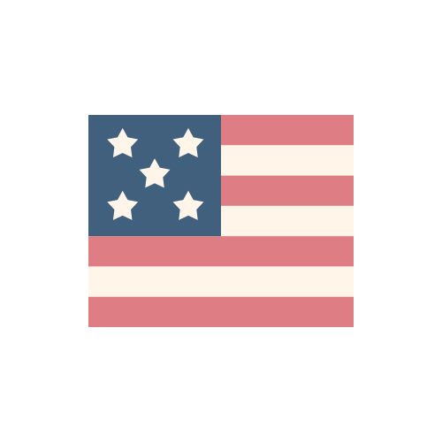 アメリカ 国旗 カラーアイコン フリー素材