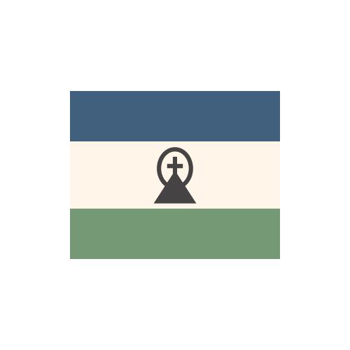 レソト 国旗 カラーアイコン フリー素材